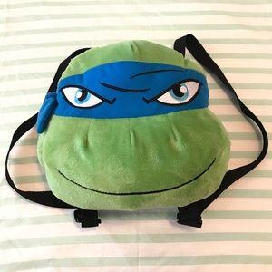 Ninja Turtles Plush Blue Leonardo Backpack Purse